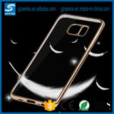 Clear en gros Transparent TPU Rubber Phone Cas Anti Yellow Aging Rose Gold pour Samsung Galaxy S7 Edge
