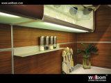 Armadietto verniciato bianco della cucina di alta lucentezza di disegno di Morden