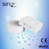 iluminação de teto redonda do diodo emissor de luz do quadrado 6W, luz da cozinha do diodo emissor de luz