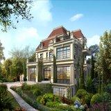Projeto exterior da rendição de Arichitectural da casa de campo européia do estilo