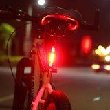 Luz amonestadora de Bycicle de la lámpara de la luz trasera de la bicicleta de la seguridad de la luz trasera MTB de la luz de la cola de la bici de montaña de la noche de los lasers de la luz 2 de la bicicleta LED