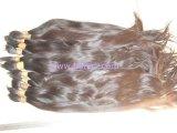익지않는 Virgin 머리, Virgin Remy 사람의 모발, 자연적인 인간적인 대량 머리, 암갈색 자연적인 익지않는 머리
