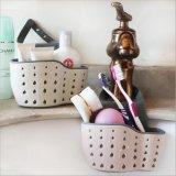 Корзина мытья просевателя, хранение ванны корзины мешка стока портативной кухни вися оборудует держатель раковины, корзину Двойн-Слоя