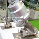 Robinet d'arrêt sphérique matériel pneumatique d'acier inoxydable