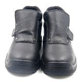 Неподдельная кожа отсутствие ботинок работы шнурка для работника Welder