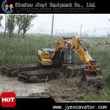 Amphibious Pontoon Jyae-328를 가진 땅과 Water Dredging Excavator