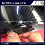 Горячее надувательство! ! ! Высокая лоснистая пленка обруча автомобиля волокна углерода текстуры 5D черноты 3D