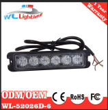 24V Police LED Aviso Luzes de emergência 6LED Grille Warning Lamp