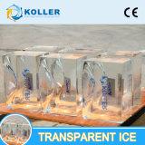 Koller機械Des Blocs De Glace TransparentはSculpture De Glaceを注ぐ