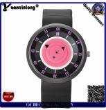 Fábrica ocasional del reloj del cuarzo del cuero del deporte de las nuevas del diseño Yxl-425 de la rotura de los relojes mujeres de lujo de los hombres