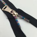 Zipper grande do metal dos dentes da cor do tamanho 8# para o revestimento