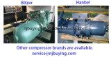 Elektrisches R404A Kühlmittel verwendeter industrieller Wasser-Schrauben-Kühler-Preis