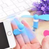 Förderung-Geschenk USB-Ventilator-flexible bewegliche Handminiventilator für OTG Smartphone iPhone IOS