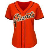 女性のオレンジ涼しい基礎互い違いのTシャツ