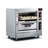 Double four de pain de gaz de paquet/four traitement au four de pain grillé/four de traitement au four pour la boulangerie