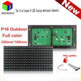 Module polychrome RVB 7 de l'IMMERSION semi extérieure 20*10pixels DEL de la couleur 320*160mm de P16 pour le panneau d'affichage polychrome de P16 DEL