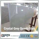 Laje artificial de quartzo da faísca cinzenta de cristal de quartzo para a bancada