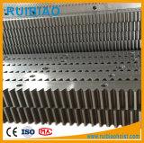 CNC helicoidal galvanizado M1.5 del estante de engranaje de los dientes del estímulo plástico del metal