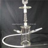 Pipe en verre pure fabriquée à la main de narguilé pour le fumage