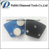 La amoladora mojada o seca filetea el segmento de pulido del suelo concreto