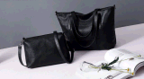 Zweiteilige moderne Handtaschen-einfache Farbe PU-Dame-Handtasche (BDMC161)