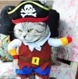 Vestiti dell'animale domestico del costume del pirata per il cane ed il gatto