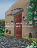 Cortinas de la lluvia del toldo de la hoja del material para techos del pabellón de la puerta de la hoja del policarbonato del material de construcción (talla libre)