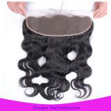 Chiusura brasiliana del Frontal del merletto degli accessori dei capelli umani di stile di pollici di densità 13X4 di 130%