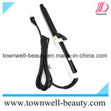 Fer s'enroulant de cheveu ionique léger avec le long stand d'individu de clip