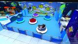 Equipo de patio interior para niños con juego suave y coche parachoques