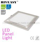Luz de painel de prata Electroplated do diodo emissor de luz do alumínio 12W