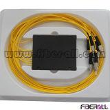 Divisor óptico del PLC de la fibra inferior del PDL con el rectángulo 1X8 del ABS