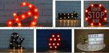 Batteriebetriebene Weinlese-Geschenk-Ausgangsdekoration Marguee Lichter der Einhorn-Form-3D LED Symble