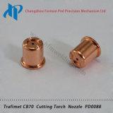 Конец сопла Pd0088 набора потребляемых веществ газового резака плазмы Trafimet CB70