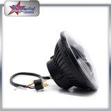 지프 기관자전차 80W 고/저 광속을%s 고품질 7 인치 둥근 LED 헤드라이트