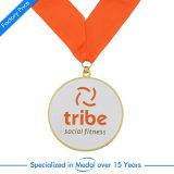 Kundenspezifische Großhandelsandenken-Sport-Medaille mit Farbband