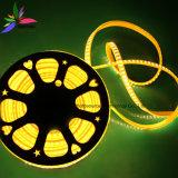 노란 색깔 120LEDs SMD2835 220V IP65 LED 밧줄 빛