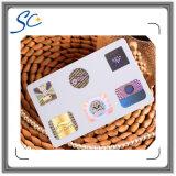 Карточка PVC штемпелюя фольги горячего надувательства горячая