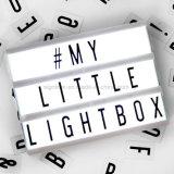 文字およびLEDライトが付いているA4サイズの映画のライトボックス