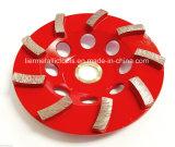 """5 """" el pulido concreto de la albañilería de piedra de Segs de la rueda 9 de la taza de Turbo consideró la lámina"""