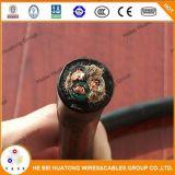 Base flexible forrada caucho 8 del cable 600V 3 cable de 10 16AWG Soow