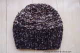 Sombrero hecho punto hecho a mano del telar jacquar del sombrero del invierno de la gorrita tejida del sombrero del Knit del sombrero POM POM del sombrero de encargo de acrílico de la gorrita tejida