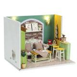 Projeto novo que monta a casa de boneca de madeira de DIY