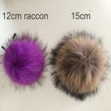 オンラインショッピング毛皮POM主Fobのアライグマの毛皮Keychain