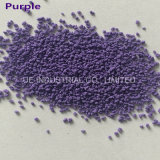 粉末洗剤のための紫色の斑点