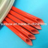 Chemises respectueuses de l'environnement approuvées de fibre de verre de silicones d'UL pour l'isolation de fil électrique