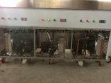 A bandeja do plano dobro de dois compressores fritou a máquina do rolo do gelado