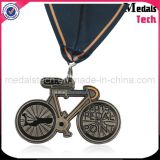 메달 포상이 MOQ 고대 니켈 자전거 모양 관례에 의하여 않는다