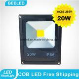 La lámpara impermeable 20W refresca la luz de inundación al aire libre blanca del LED