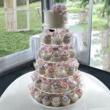 3/4/5/6/7 étalage Wedding acrylique de gâteau de Birdthday de rangée